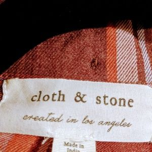 cloth & stone Tops - Nwot Cloth & Stone plaid camp shirt